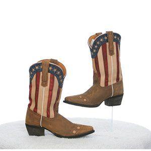 Dan Post Lil' Liberty Flag Cowboy Boots Kids 4D